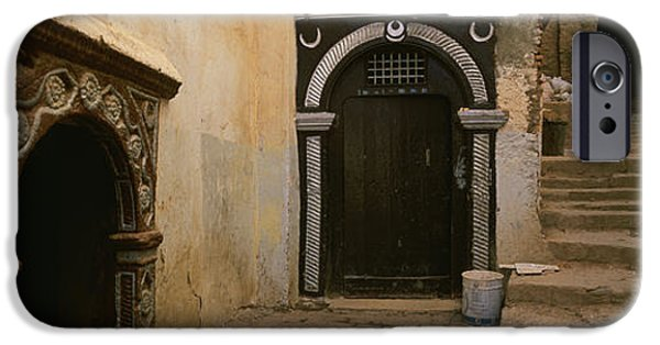 Alley iPhone Cases - Entrance Of A Building, Casaba iPhone Case by Panoramic Images