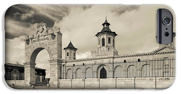 Winery Photography iPhone Cases - Entrance Of A Winery, Chateau Cos iPhone Case by Panoramic Images