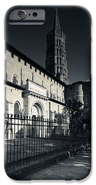 Midi iPhone Cases - Entrance Of The Basilica Of St. Sernin iPhone Case by Panoramic Images
