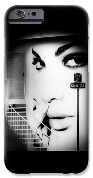 Lips iPhone Cases - Entrance To A Womans Mind iPhone Case by Karen Wiles