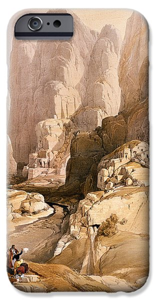David iPhone Cases - Entrance to Petra iPhone Case by David Roberts