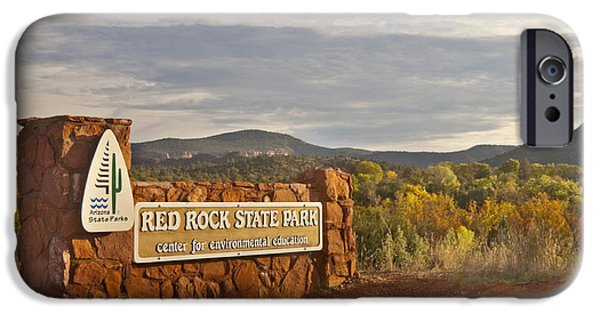 Sedona iPhone Cases - Entrance To Red Rock State Park iPhone Case by Richard & Ellen Thane