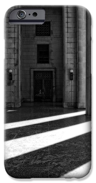 Buildings In Nashville iPhone Cases - Entrance To War Memorial In Nashville iPhone Case by Dan Sproul