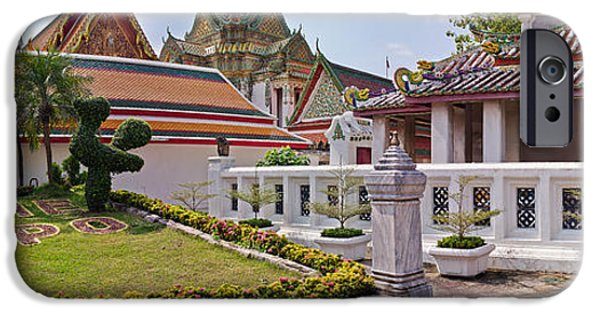 Buddhist iPhone Cases - Entrance To Wat Pho Temple, Bangkok iPhone Case by Panoramic Images