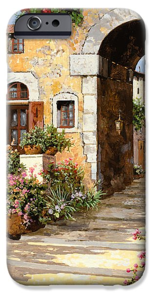 entrata al borgo iPhone Case by Guido Borelli