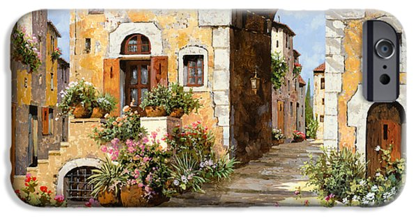 Landscape. Scenic iPhone Cases - Entrata Al Borgo iPhone Case by Guido Borelli