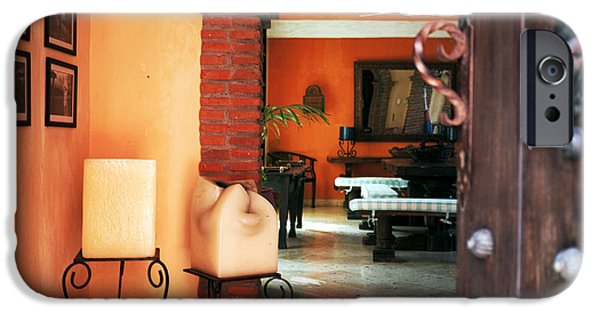 Spanish House iPhone Cases - Entry in Cartagena iPhone Case by John Rizzuto