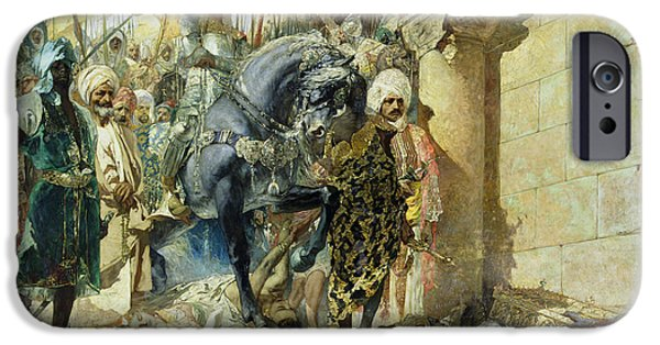 Wounded iPhone Cases - Entry of the Turks of Mohammed II iPhone Case by Benjamin Constant