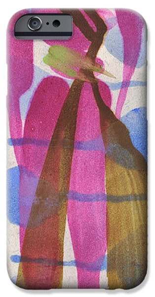 Pen And Ink iPhone Cases - Entwined Figures Series.  Love and becoming one.  iPhone Case by Cathy Peterson