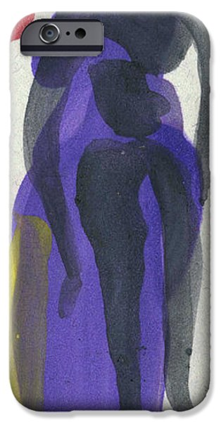 Printmaking iPhone Cases - Entwined Figures Series. Your curves turn me on.  iPhone Case by Cathy Peterson