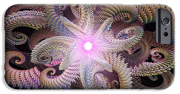 Business Digital Art iPhone Cases - Entwined iPhone Case by Michael Durst