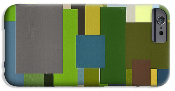 Green And Yellow Abstract iPhone Cases - Envious iPhone Case by Lourry Legarde
