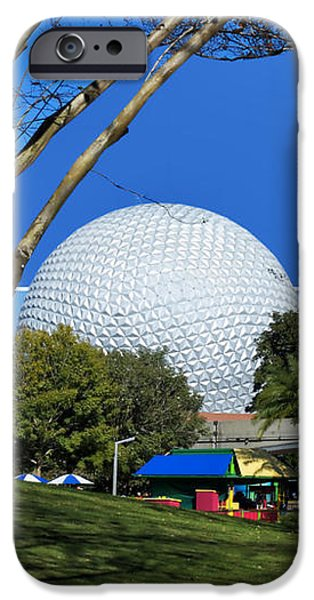 Epcot Globe 02 iPhone Case by Thomas Woolworth