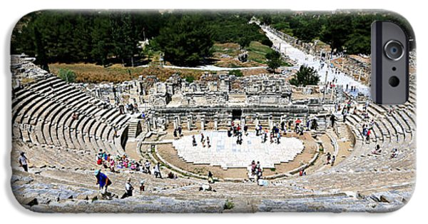 Ephesus iPhone Cases - Theater of Ephesus iPhone Case by Stephen Stookey