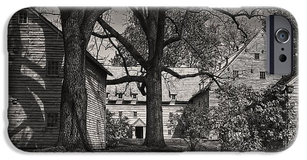 The White House Photographs iPhone Cases - The Sisters House at Ephrata Cloister  iPhone Case by Priscilla Burgers