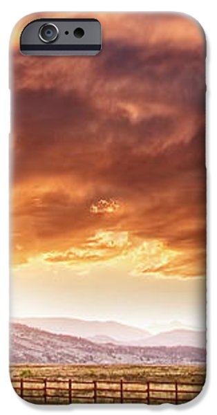 Epic Colorado Country Sunset Landscape Panorama iPhone Case by James BO  Insogna