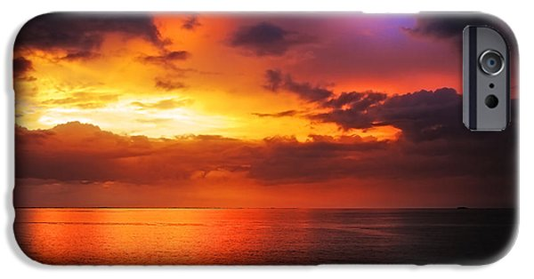 Colorful Cloud Formations iPhone Cases - Epic End of the Day at Equator iPhone Case by Jenny Rainbow