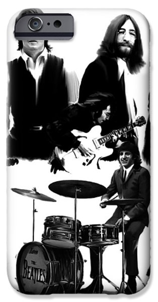 Epic   The Beatles iPhone Case by Iconic Images Art Gallery David Pucciarelli