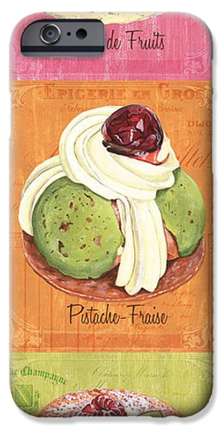 Graphic Design Paintings iPhone Cases - Epicerie Panel 2 iPhone Case by Debbie DeWitt