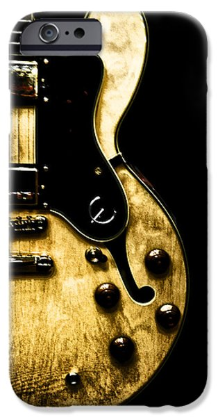 Epiphone Guitar iPhone Cases - Epiphone Broadway Electric Guitar iPhone Case by Bill Cannon