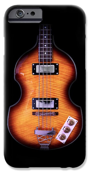 Hofner iPhone Cases - Epiphone Viola Bass Guitar No Border iPhone Case by John Cardamone