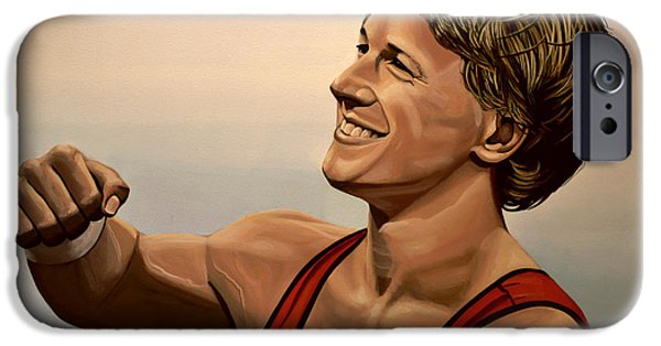 Olympic Gold Medalist iPhone Cases - Epke Zonderland The Flying Dutchman iPhone Case by Paul  Meijering