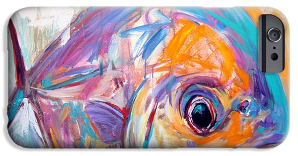 Permit iPhone Cases - Expressionist Permit - Contemporary Art iPhone Case by Mike Savlen