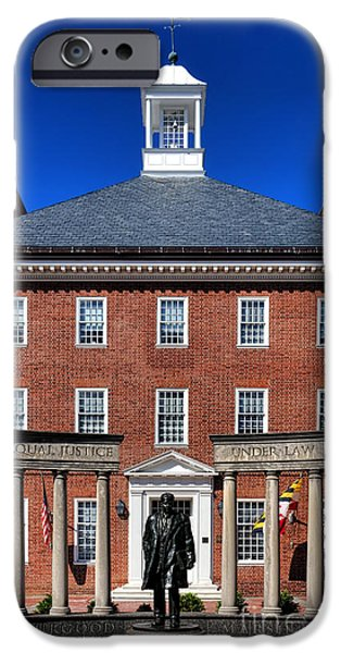 Annapolis Maryland iPhone Cases - Equal Justice Under Law iPhone Case by Olivier Le Queinec