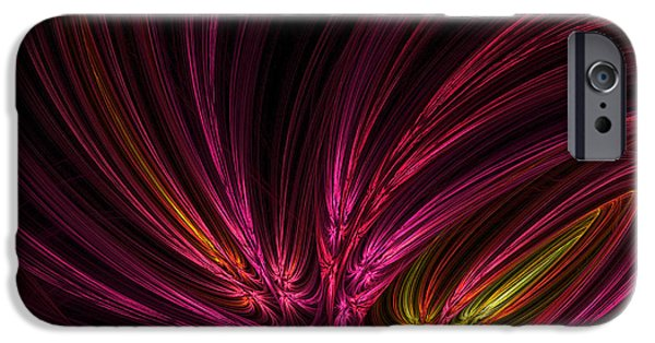 Purple And Green iPhone Cases - Equalized iPhone Case by Lourry Legarde