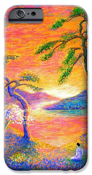 Pine Paintings iPhone Cases - Divine Light iPhone Case by Jane Small