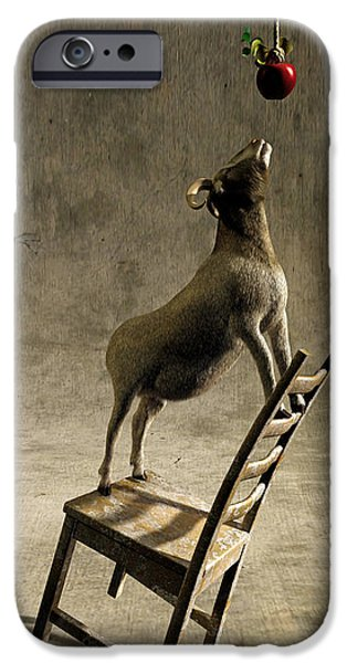 Chair Digital iPhone Cases - Equilibrium iPhone Case by Cynthia Decker