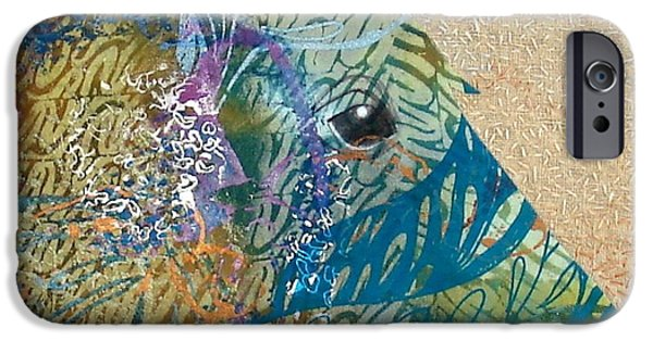 Horse Tapestries - Textiles iPhone Cases - Equine Spirit iPhone Case by Sue Cleveland