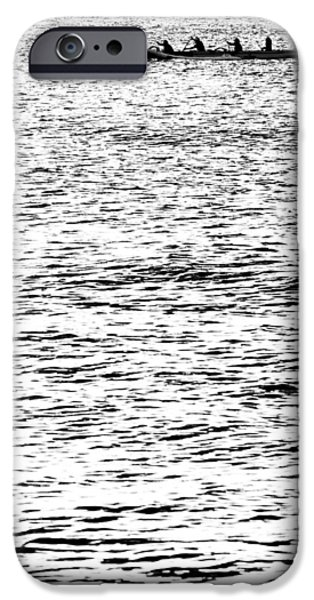 Monotone iPhone Cases - Equinox Paddlers iPhone Case by Sean Davey