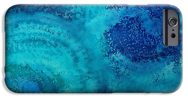 Torsion iPhone Cases - Equivalent Space original painting iPhone Case by Sol Luckman