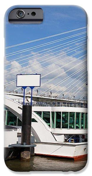Erasmus Bridge in Rotterdam Downtown iPhone Case by Artur Bogacki