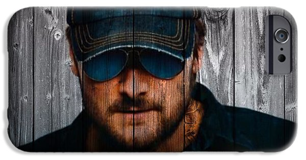 Working Artist iPhone Cases - Eric Church iPhone Case by Dan Sproul