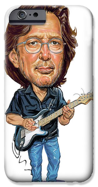 Greatest Electric Guitarist iPhone Cases - Eric Clapton iPhone Case by Art