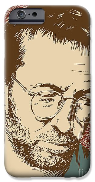 Torn iPhone Cases - Eric Clapton iPhone Case by Jim Zahniser
