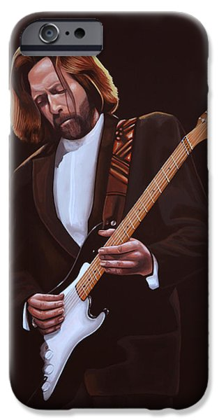 Singer-songwriter iPhone Cases - Eric Clapton iPhone Case by Paul  Meijering