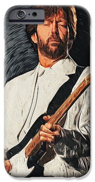 B.b.king iPhone Cases - Eric Clapton iPhone Case by Taylan Soyturk