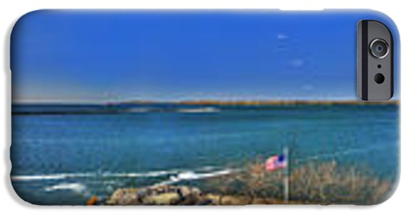 Michael iPhone Cases - Erie Basin Marina TOWER View iPhone Case by Michael Frank Jr