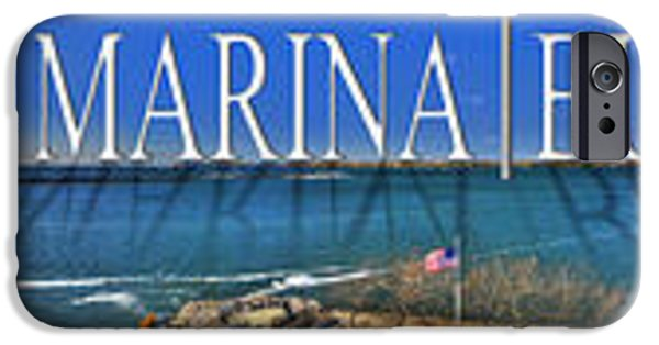 Michael iPhone Cases - Erie Basin Marina v2 iPhone Case by Michael Frank Jr