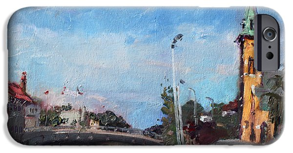 Town iPhone Cases - Erie Canal in Lockport iPhone Case by Ylli Haruni