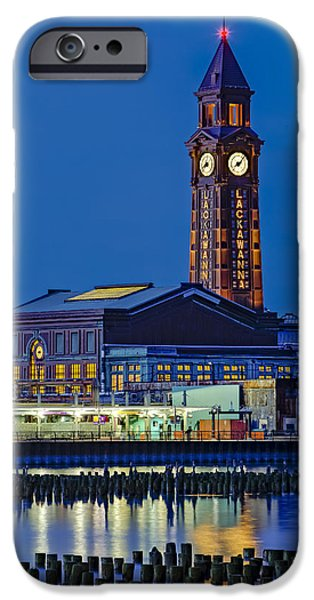 Hudson River iPhone Cases - Erie Lackawanna Terminal Hoboken iPhone Case by Susan Candelario