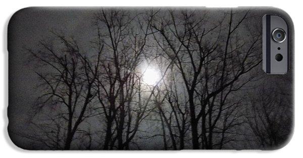 Moonscape iPhone Cases - Erie Moon iPhone Case by Scott Aubin