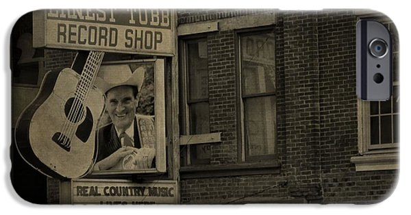 Buildings In Nashville iPhone Cases - Ernest Tubb Record Shop iPhone Case by Dan Sproul