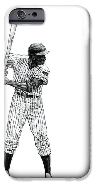 Recently Sold -  - Chicago Cubs iPhone Cases - Ernie Banks iPhone Case by Joshua Sooter