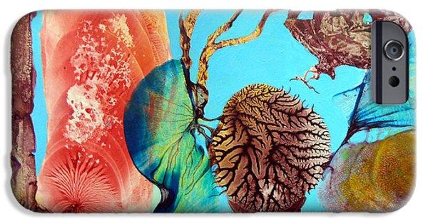 Surreal Landscape iPhone Cases - Ernsthaftes Spiel Im Innerem Erdteil iPhone Case by Otto Rapp