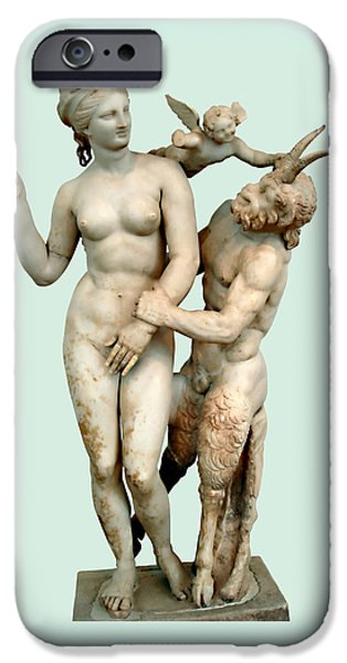 Greek Goddesses iPhone Cases - Erotic Advances iPhone Case by Ellen Henneke
