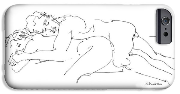 Figure Drawing iPhone Cases - Erotic Art Drawings 2 iPhone Case by Gordon Punt